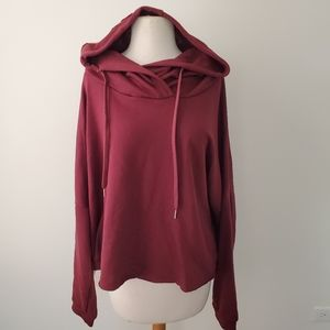 RUE21+ BURGUNDY ROSE EMBROIDERED HOODIE NWT